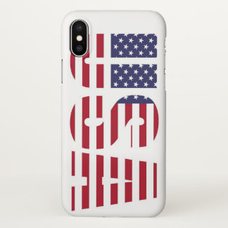 Capa Para iPhone X Os EUA embandeiram no iPhone X