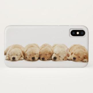 Capa Para iPhone X Os filhotes de cachorro do golden retriever