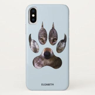 Capa Para iPhone X Os olhos predadores do amarelo do retrato da pata