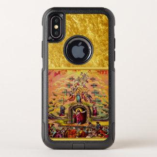 Capa Para iPhone X OtterBox Commuter A porta do céu com uma textura e um Jesus da folha