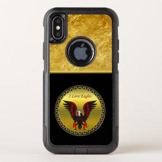 Capa Para iPhone X OtterBox Commuter Águia vermelha e preta dos desenhos animados com