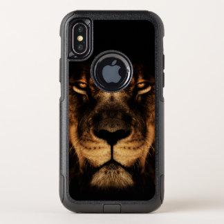 Capa Para iPhone X OtterBox Commuter Arte africana da cara do leão