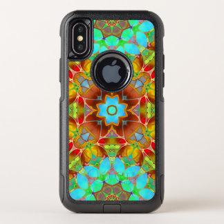 Capa Para iPhone X OtterBox Commuter arte floral G410 do Fractal do exemplo da viagem