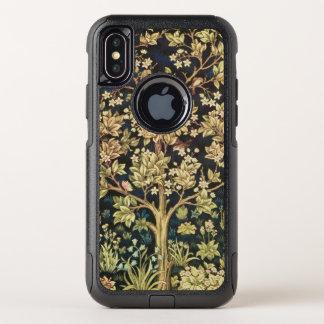 Capa Para iPhone X OtterBox Commuter Árvore de William Morris do Pre-Raphaelite do