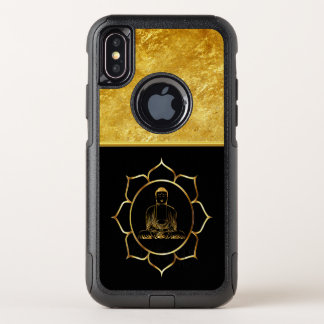 Capa Para iPhone X OtterBox Commuter Buddha que faz a folha de ouro espiritual da