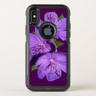 Capa Para iPhone X OtterBox Commuter Capas de iphone da paixão da flor da ameixa