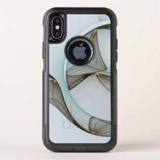 Capa Para iPhone X OtterBox Commuter Elegância moderna abstrata do ouro de Brown de