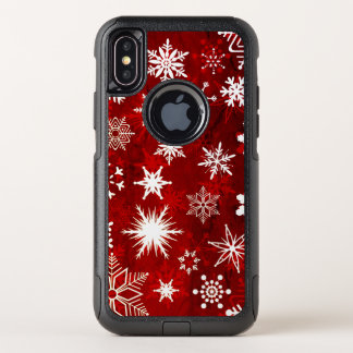 Capa Para iPhone X OtterBox Commuter Flocos de neve festivos do Natal