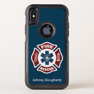 Capa Para iPhone X OtterBox Commuter Fogo e salvamento