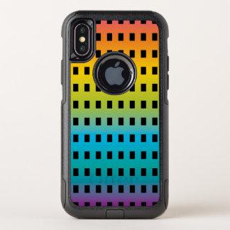Capa Para iPhone X OtterBox Commuter Fulgor de néon nos 2 fluorescentes coloridos