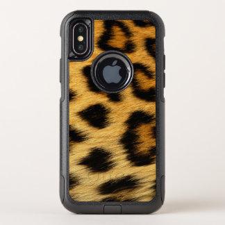 Capa Para iPhone X OtterBox Commuter Impressão animal da pele do leopardo