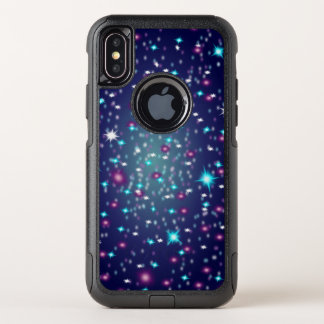 Capa Para iPhone X OtterBox Commuter iPhone Otterbox da galáxia/Sparkles