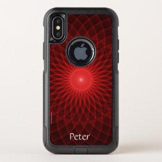 Capa Para iPhone X OtterBox Commuter Mandala vermelha
