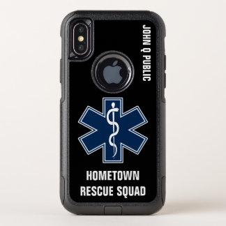 Capa Para iPhone X OtterBox Commuter Modelo conhecido do paramédico EMT EMS