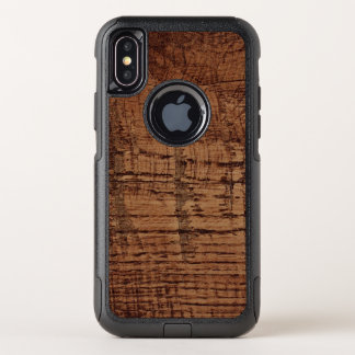 Capa Para iPhone X OtterBox Commuter Olhar áspero da grão da madeira de carvalho da