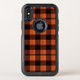Capa Para iPhone X OtterBox Commuter Olhar Checkered de serapilheira do teste padrão do