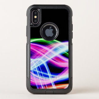 Capa Para iPhone X OtterBox Commuter Ondas mega do néon