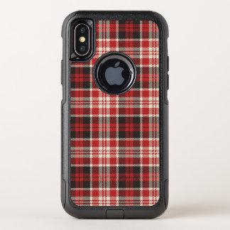 Capa Para iPhone X OtterBox Commuter Teste padrão vermelho e preto da xadrez