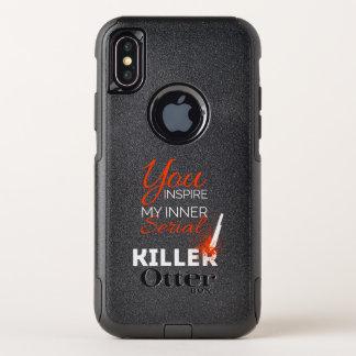 Capa Para iPhone X OtterBox Commuter Você inspira meu assassino em série interno