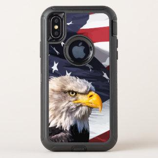 Capa Para iPhone X OtterBox Defender Americano referente à cultura norte-americana