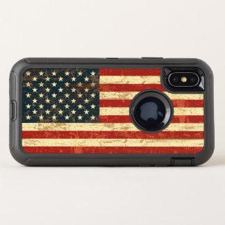 Capa Para iPhone X OtterBox Defender Bandeira americana suja EUA