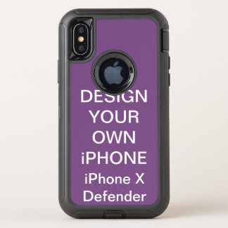 Capa Para iPhone X OtterBox Defender Caixa resistente personalizada costume do iPhone X