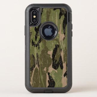 Capa Para iPhone X OtterBox Defender Camo verde desvanecido