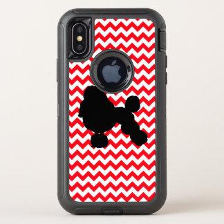 Capa Para iPhone X OtterBox Defender Carro de bombeiros Chevron vermelho com silhueta