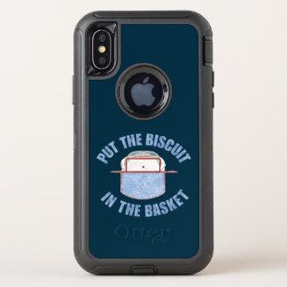 Capa Para iPhone X OtterBox Defender Cesta do biscoito (hóquei)