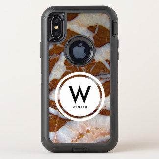 Capa Para iPhone X OtterBox Defender Chert com impressão da textura da rocha das veias
