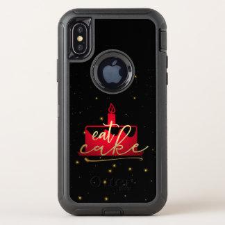 """Capa Para iPhone X OtterBox Defender """"Coma vermelho do bolo"""" e capas de iphone"""