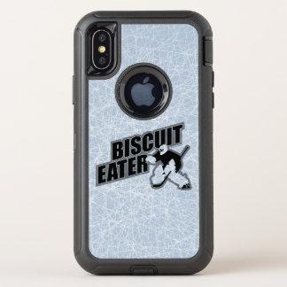 Capa Para iPhone X OtterBox Defender Comedor do biscoito (hóquei)