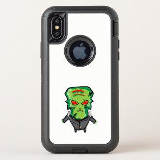 Capa Para iPhone X OtterBox Defender Desenhos animados vermelhos e verdes o Dia das