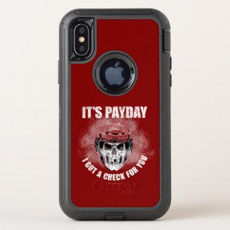 Capa Para iPhone X OtterBox Defender Dia de pagamento do hóquei