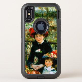 Capa Para iPhone X OtterBox Defender Duas irmãs no terraço