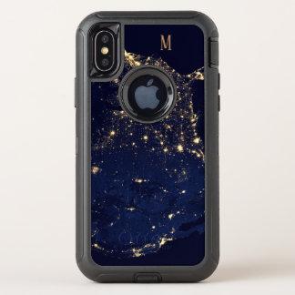 Capa Para iPhone X OtterBox Defender Estilo bonito Sparkling da forma dos começos do