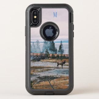 Capa Para iPhone X OtterBox Defender Feriados da alegria da rena das árvores da queda