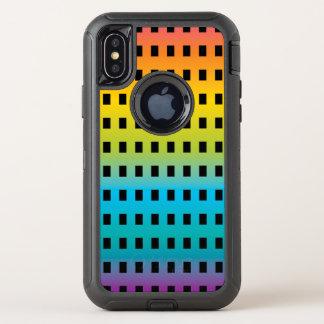 Capa Para iPhone X OtterBox Defender Fulgor de néon nos 2 fluorescentes coloridos