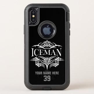 Capa Para iPhone X OtterBox Defender Hóquei tribal (Iceman)