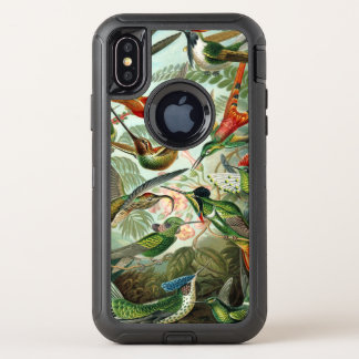 Capa Para iPhone X OtterBox Defender Impressão da arte de Ernst Haeckel: Trochilidae