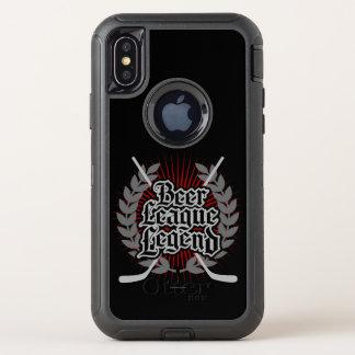 Capa Para iPhone X OtterBox Defender Legenda da liga da cerveja do hóquei