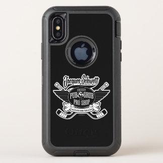 Capa Para iPhone X OtterBox Defender Loja do hóquei de Jacques Schwett pro