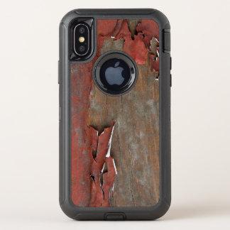 Capa Para iPhone X OtterBox Defender Madeira vermelha do celeiro do vintage