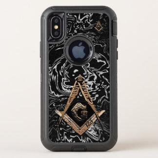 Capa Para iPhone X OtterBox Defender Mentes maçónicas (GoldenSwish)