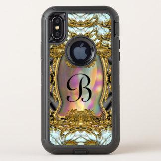 Capa Para iPhone X OtterBox Defender Monograma bonito da proteção de Barnetcue Dubois