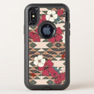 Capa Para iPhone X OtterBox Defender Navajo cor-de-rosa da pradaria