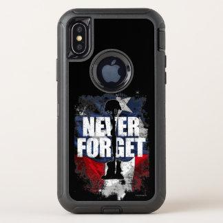 Capa Para iPhone X OtterBox Defender Nunca esqueça (o Memorial Day)
