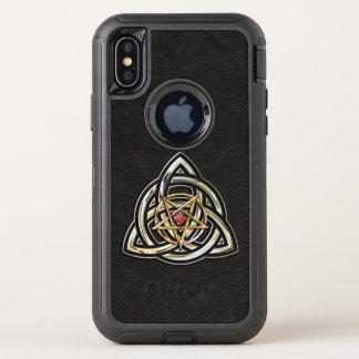 Capa Para iPhone X OtterBox Defender Pentacle de Triquetra
