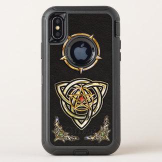 Capa Para iPhone X OtterBox Defender Pentagram de Triquetra