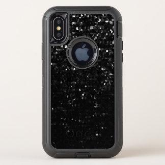 Capa Para iPhone X OtterBox Defender preto Bling de cristal Strass do exemplo do